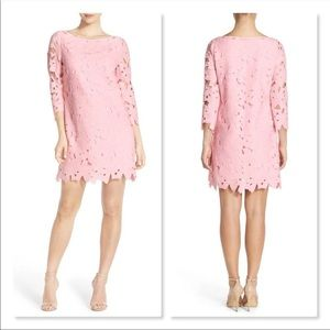 Felicity & Coco Dress Pink Lace Overlay EUC